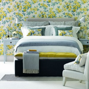 yellow-floral-bedroom