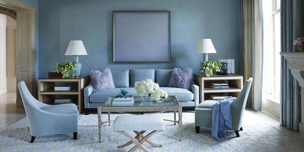 Для спальни  голубой цвет придется очень кстати, ведь он способствует расслаблению и отдыху