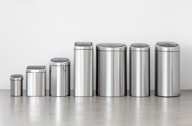 Подпись: Мусорные баки Touch Bin Brabantia: 3, 10, 20, 25, 30, 40, 45, 50-60 литров