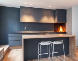 Краска в кухонном интерьере