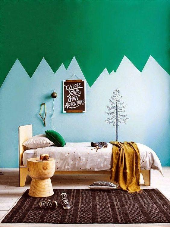 Обои с абстрактным изображением гор