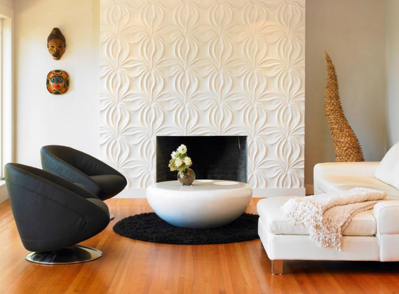 Декоративные панели в интерьере гостиной фото