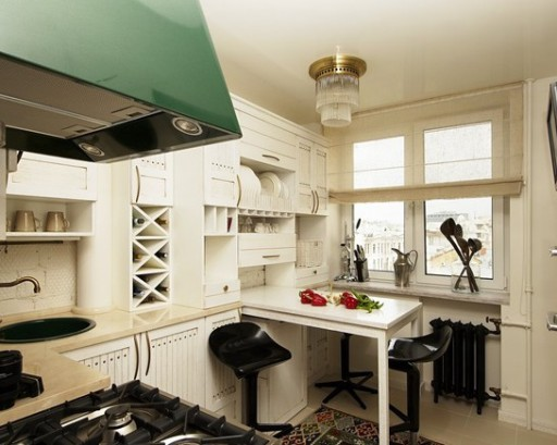 Естественное освещение в малогабаритной кухне