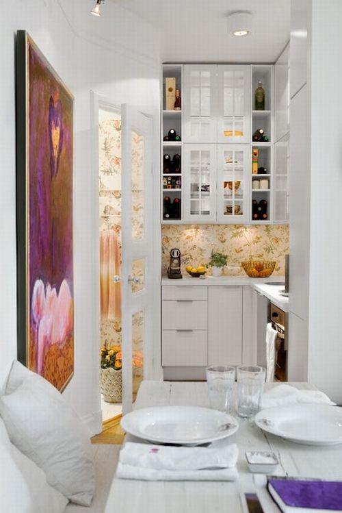 Малогабаритная кухня в стили минимализм
