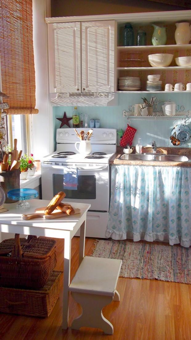 Малогабаритная кухня в стили прованс