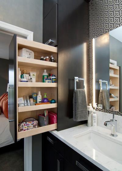 организация хранение в ванной комнате