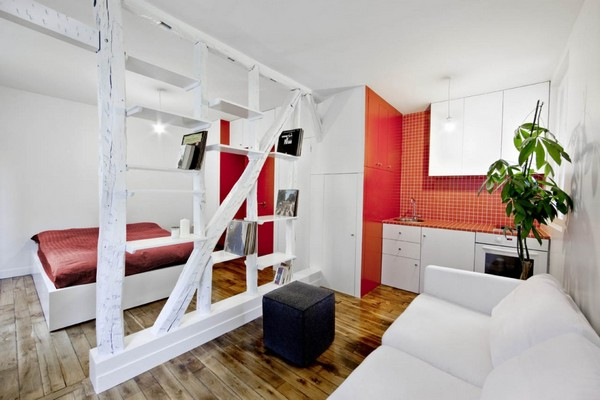 Современный стиль оформления квартиры студии