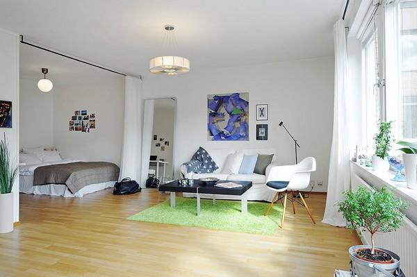 Пример освещения небольшой квартиры