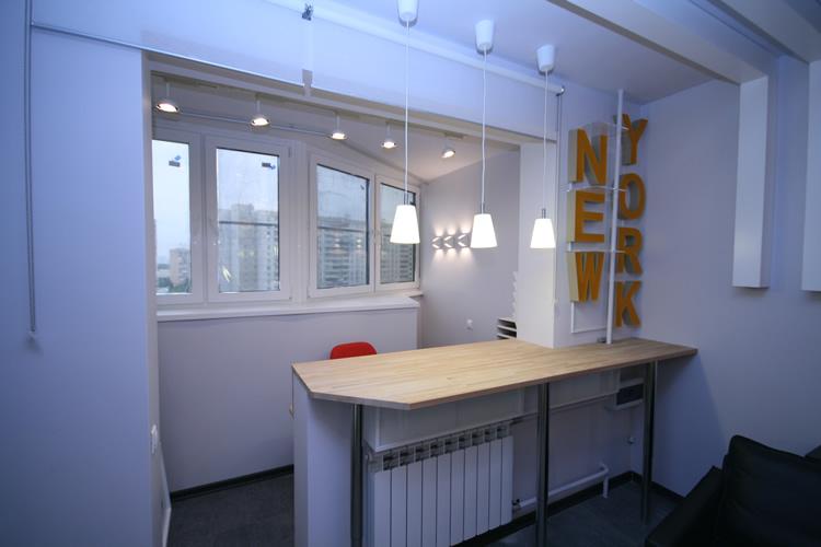 Дизайн балкона с комнатой