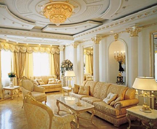 Зал в римском стиле дизайн