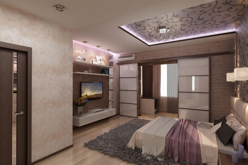 Дизайн спальни 18 кв м с гардеробной