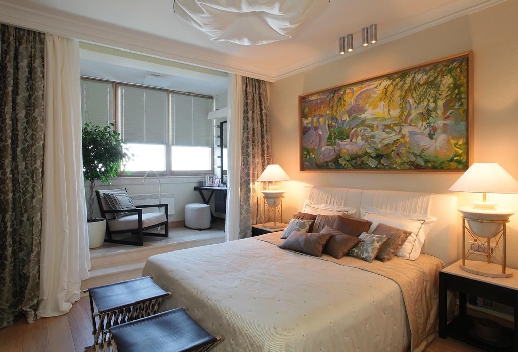 Дизайн спален с присоединенным балконом