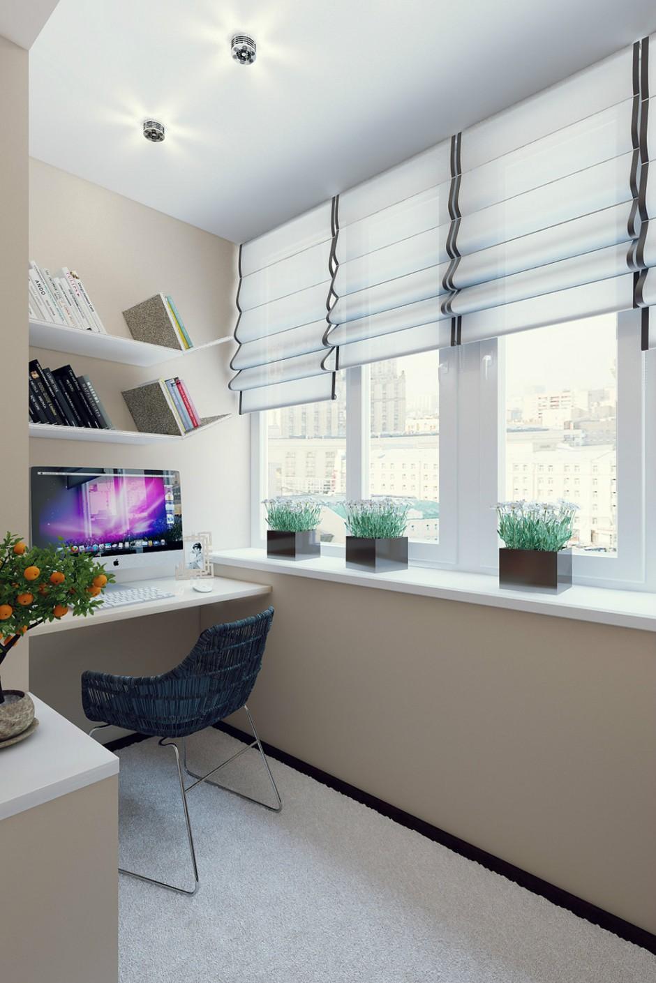 """Дизайн балкона с рабочим местом - """" - карточка пользователя ."""
