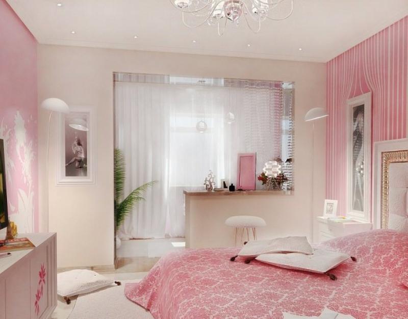 Для маленькой спальни с балконом дизайн