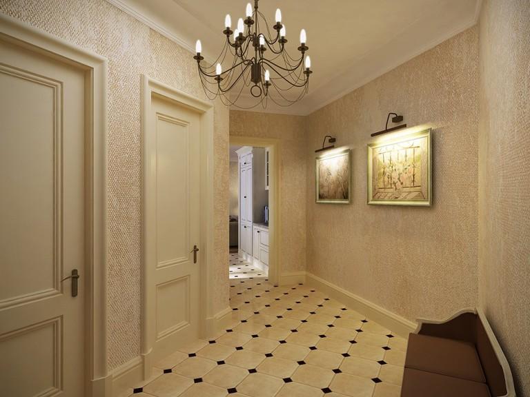 Дизайн коридора в квартире с плиткой