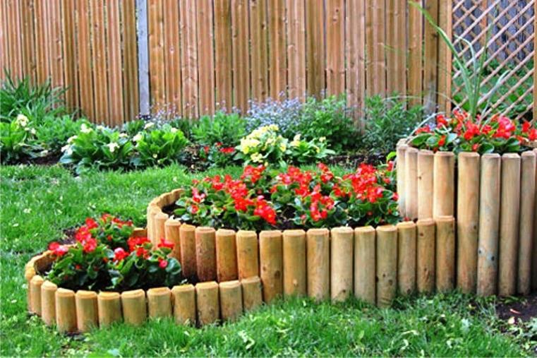 Заборчики для клумб из дерева своими руками