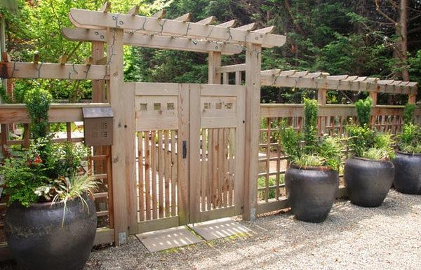 Ворота и калитки для дачи фото своими руками 15