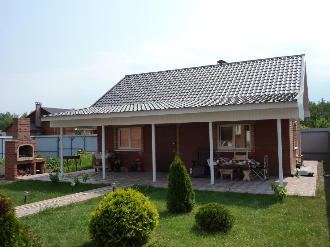 Крыша бани с навесом