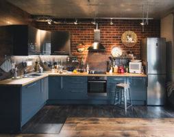Лофт в кухонном интерьере