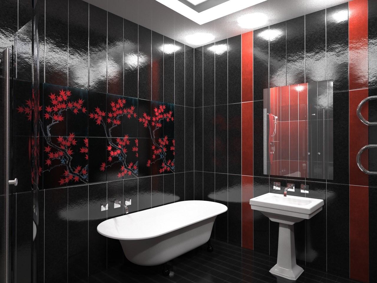 Ремонт из пластиковых панелей в ванной дизайн