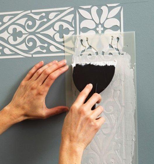 Из чего сделать трафарет для декора стен своими руками 96