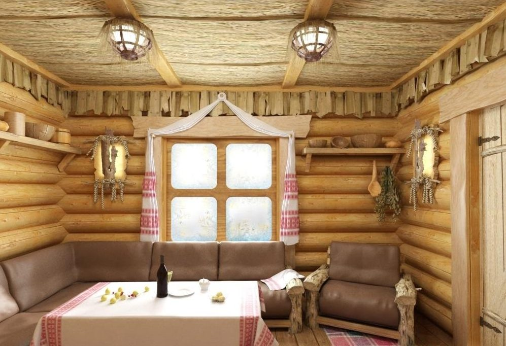 Дизайн бани в русском стиле