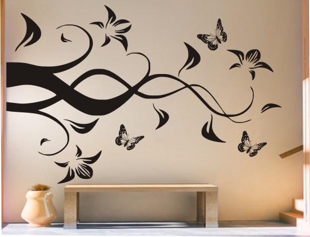 Трафарет декор стен своими руками