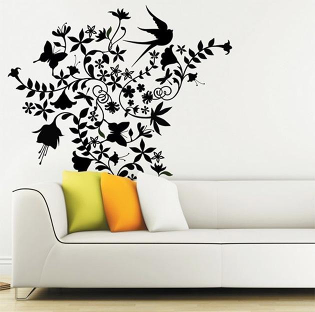 Картинки с трафаретами для декора стен