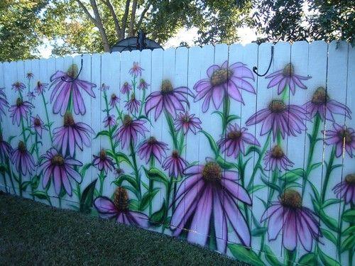 Фото рисунков на заборе своими руками 92