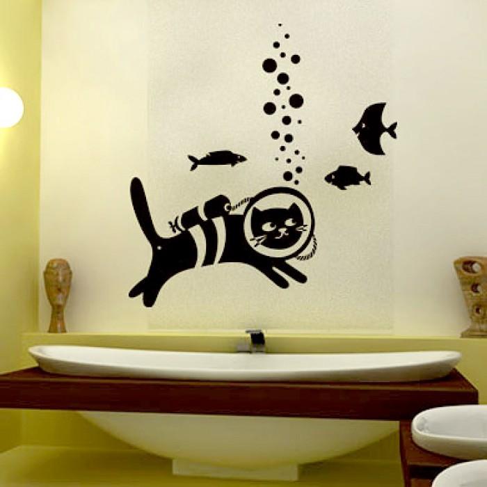 Трафарет для декора ванной комнаты