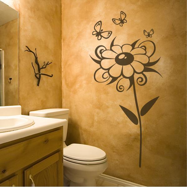 Как расписать стены в туалете своими руками