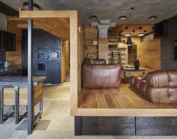 Необычный дизайн московской квартиры