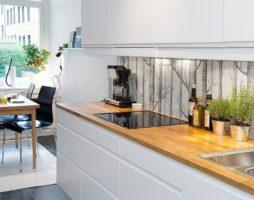 Скинали – новое слово в кухонном декоре