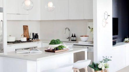 Угловые гарнитуры в декоре кухне