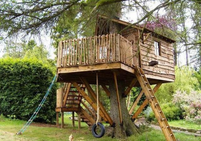Как сделать мне ребенку дом на дереве 409