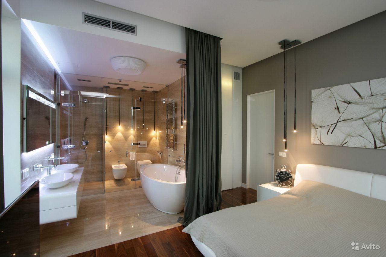 Спальня с ванной дизайн