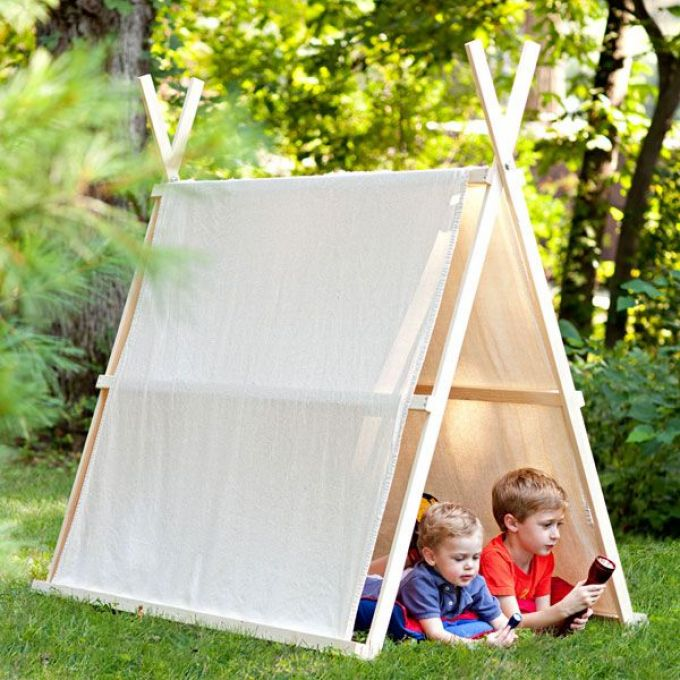 Как сделать палатку на улице своими руками 21