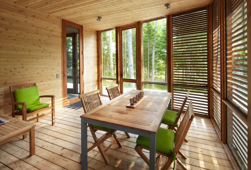 Дизайн террасы из дерева