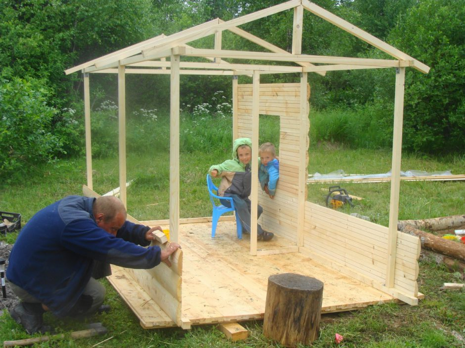 Детские домики из дерева для дачи своими руками чертежи из дерева