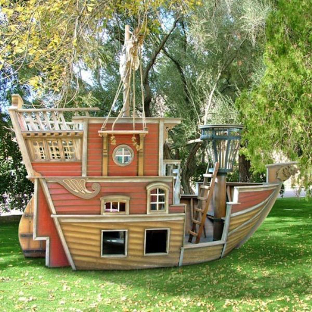 Как сделать корабль своими руками на даче