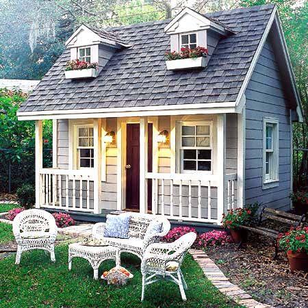 Домик для дизайна на даче