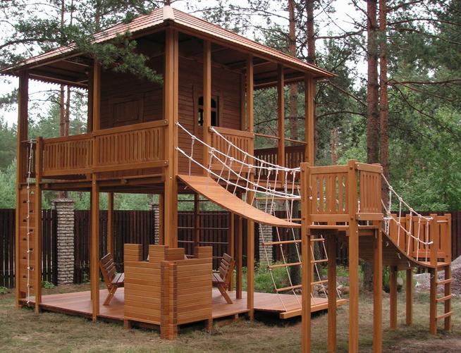 Детские площадки из дерева своими руками фото схемы 752
