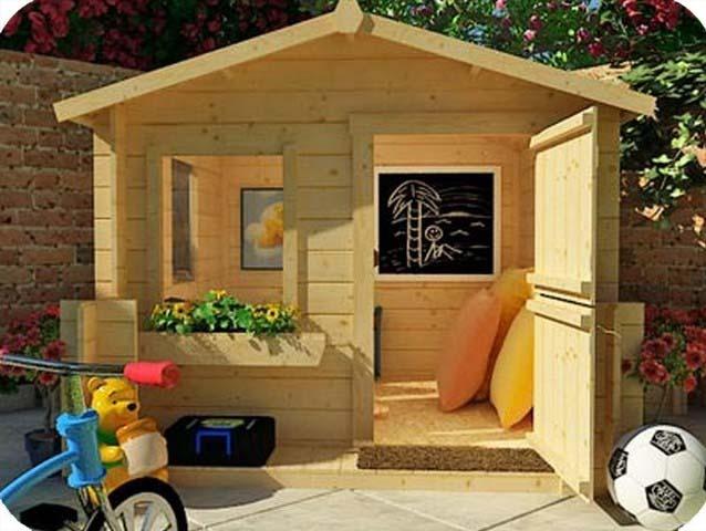 Как построить домик для ребенка на даче своими руками