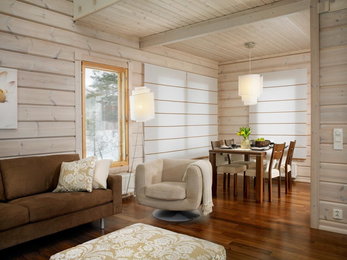 Дизайн интерьера загородного деревянного дома внутри фото