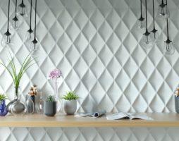 Использование 3D панелей для стен в интерьере