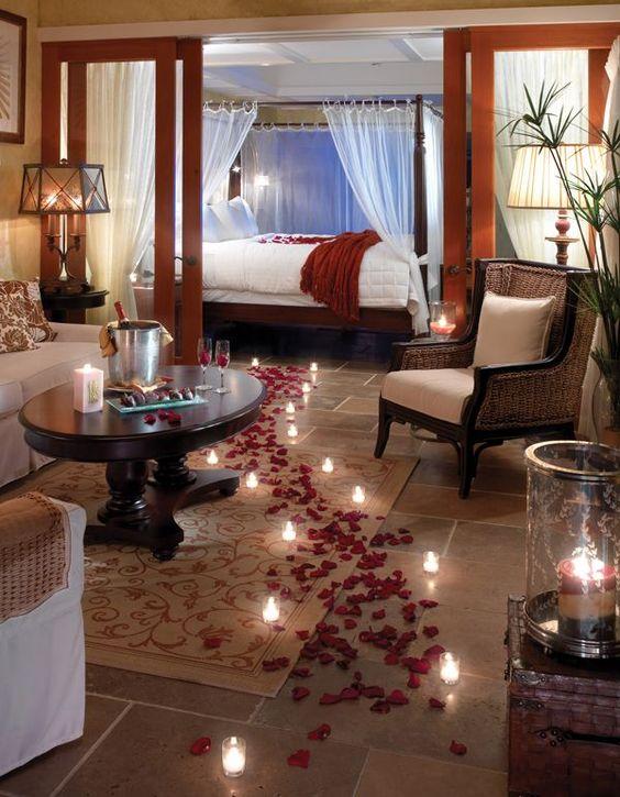 Романтическая обстановка своими руками в комнате