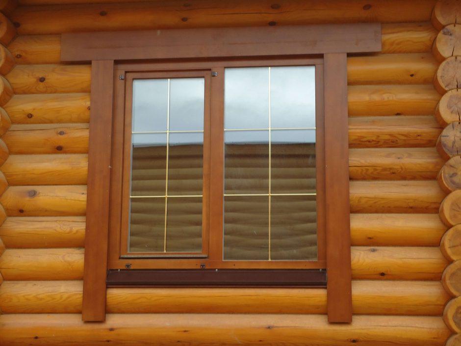 Простые деревянные наличники на окна