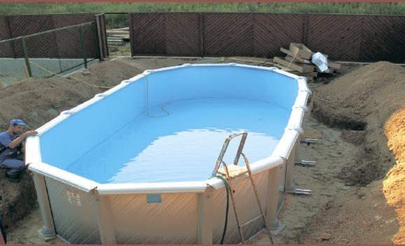 недорогой глубинный бассейн для дачи