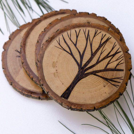 Поделки на срезе дерева своими руками фото