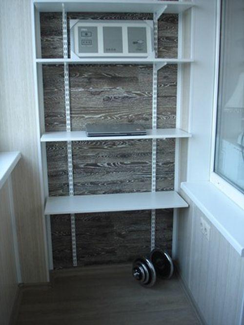 Деревянные стелажи для балкона дешево.
